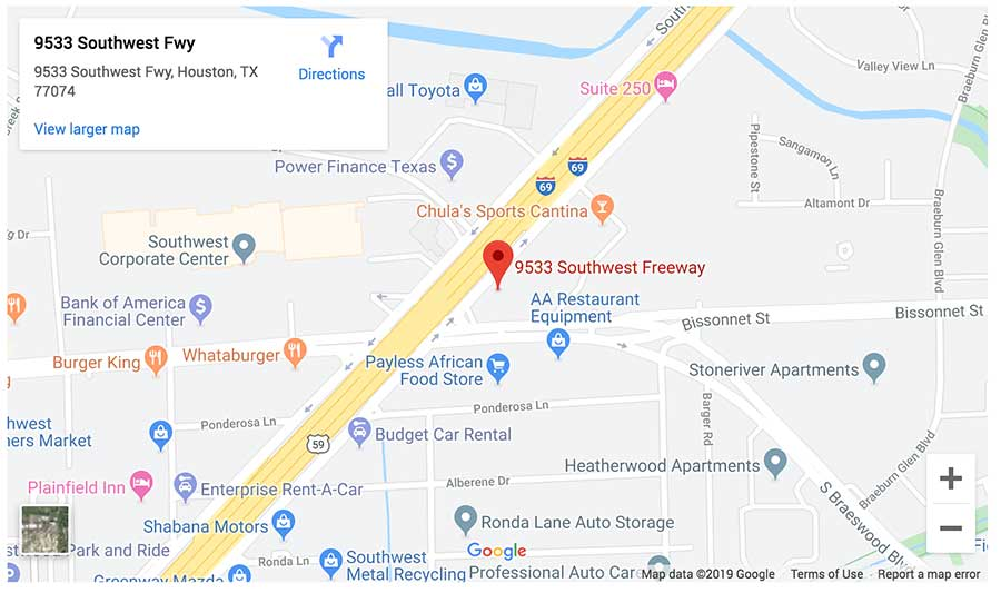 Lovett Dental Sharpstown map
